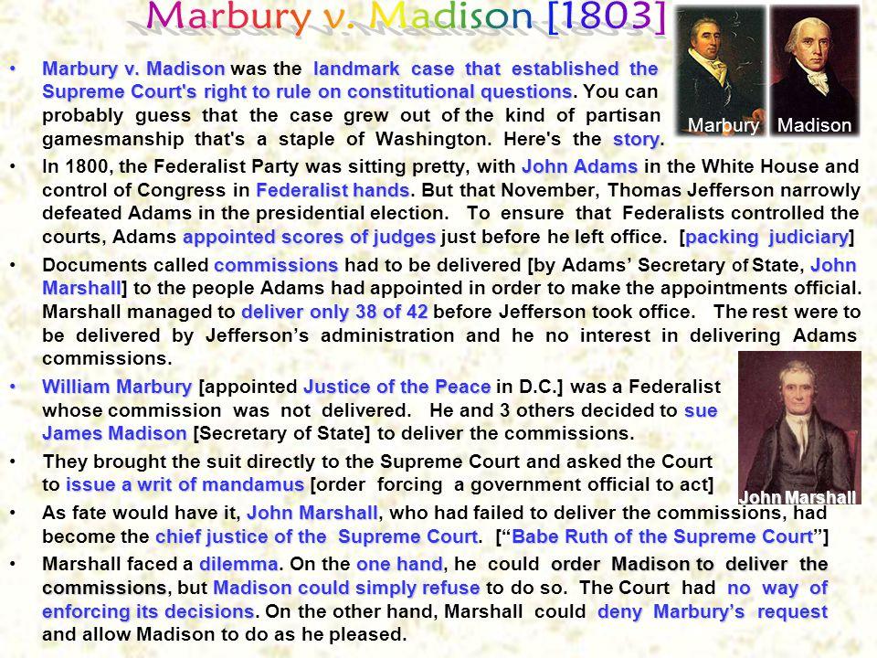 Marbury v. Madison [1803]